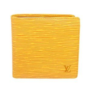 Louis Vuitton Yellow Leather Marco Bifold Wallet